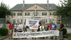 August 6, 2009. At the Japanese Embassy delivering apology for our country's use of atomic weapons on the people of Japan, and resoloution to disarm nuclear weapons in our country..